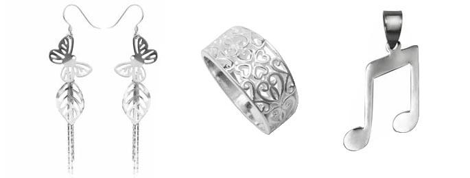 bijuterii argint simplu